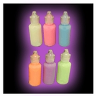 Black Light Reactive Neon Fabric Paints (6 pack)