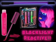 Black Light Reactive Neon Lip Gloss 3 Pack