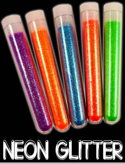 Black Light Responsive Neon Glitter (Set of 5 Colors)<!-- Click to Enlarge-->