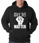 Black Lives Matter Fist Adult Hoodie
