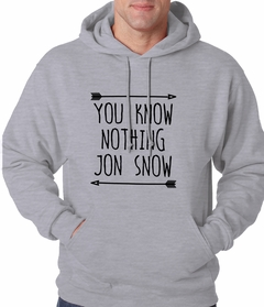 (Black Print) You Know Nothing Jon Snow Adult Hoodie