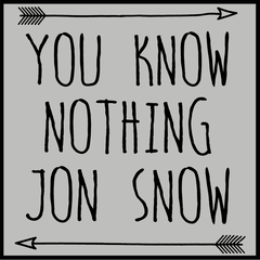 (Black Print) You Know Nothing Jon Snow Mens T-shirt