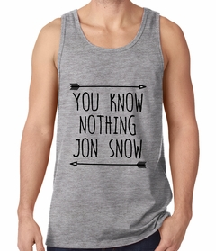 (Black Print) You Know Nothing Jon Snow Tank Top