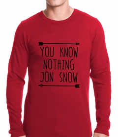 (Black Print) You Know Nothing Jon Snow Thermal Shirt