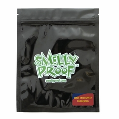 "BLACK Smelly Proof Bags - 10 Pack of Medium 6 1/2"" x 7 1/2"" Black Bags"