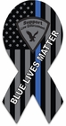 Blue Line American Flag Memorial Ribbon Magnet - Blue Lives Matter