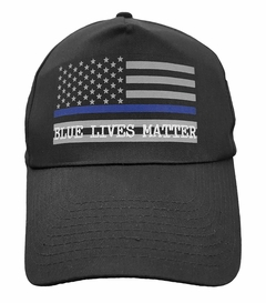 Blue Lives Matter Blue Line Flag Police Support Snapback Hat