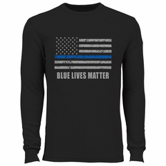 Blue Lives Matter Blue Line Flag Thermal Shirt