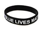 1 Blue Lives Matter Thin Blue Line Silicone Wristband Bracelet