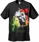 Bob Marley Guitar Smoke Men's T-Shirt (Black)