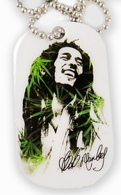 Bob Marley  KAYA Dog Tag  Necklace