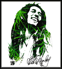 Bob Marley Leaf Dreads T-Shirt