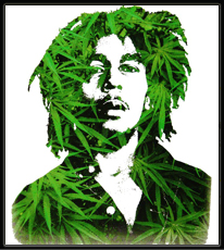"Bob Marley ""Leaves""  T-Shirt"