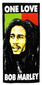 "Bob Marley One Love Beach & Bath Towel (28"" x 58"")"