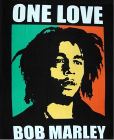 "Bob Marley ""One Love"" Fleece Throw Blanket"