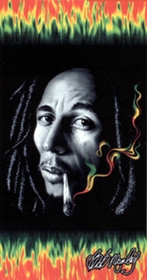 Bob Marley Rasta Smoke Beach/Bath Towel