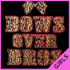 Bows Over Bros Girls T-Shirt