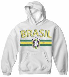Brasil Vintage Shield International Mens Hoodie