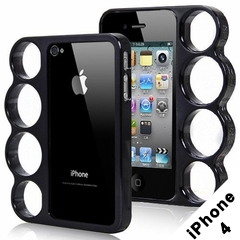 Brass Knuckles iphone Case (iphone 4 Black) with FREE SHIPPING