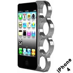 Brass Knuckles iphone Case (iphone 4 Silver)