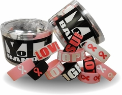 Breast Cancer  Support Designer Rubber Bracelets (12 pack)