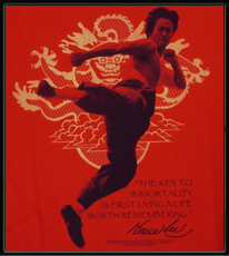"""Bruce Lee """"Immortality"""" T-Shirt (Red)"""