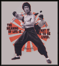 """Bruce Lee """"The Meaning of Life"""" T-Shirt (Grey)"""