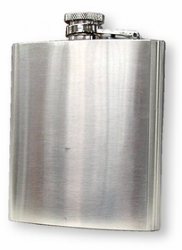 Brushed Stainless Steel 8 Ounce Liquor Flask