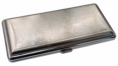 Brushed Steel Cigarette Case (For Regular Sized, 100s, and 120s)