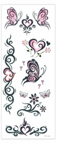 Butterfly Swirls Glitter Temporary Tattoo