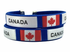 Canada International Flag Cuff Bracelet