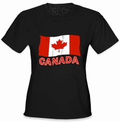 Canada Vintage Flag Girl's T-Shirt