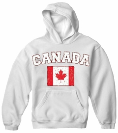Canada Vintage Flag International Hoodie