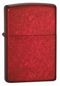 Candy Apple Red Chrome Zippo