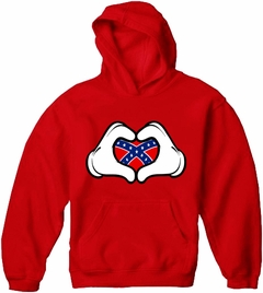Cartoon Hands Confederate Flag Adult Hoodie