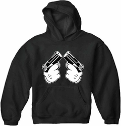 Cartoon Hands Double Guns Adult Hoodie