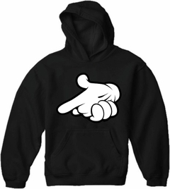 Cartoon Hands Gun Adult Hoodie