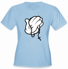 Cartoon Hands Praying Girl's T-Shirt