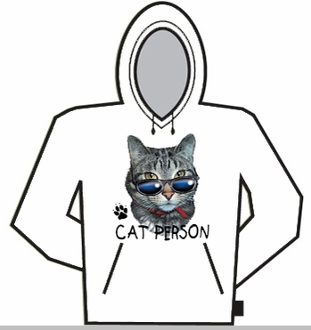 Cat Person Hoodie<!-- Click to Enlarge-->