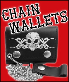 CHAIN WALLETS | BIKER LEATHER WALLET | MOTORCYCLE WALLETS l BILL FOLDS