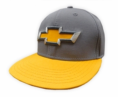Chevy Gold and Grey Logo Snapback Hat