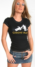 Chicks Rule Girls Tee