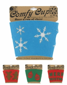 Christmas Coffee Cup Sleeve (Assorted 3 Pack)