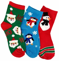 Assorted Holiday and Christmas Crew Socks (3 Pack)