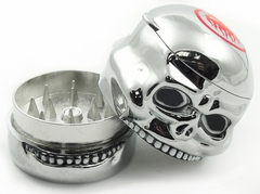 Herb Grinders - Chrome Skull  Herb Grinder with Storage Compartment