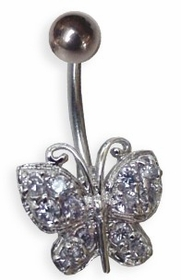 Clear Butterfly Navel Jewelry