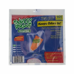 "CLEAR Smell Proof Bags - 10 Pack of Medium 6 1/2"" x 7 1/2"" Clear Bags"