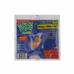 "CLEAR Smell Proof Bags - 10 Pack of Small 6"" x 4"" Clear Bags"