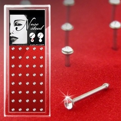Clear Stone Surgical Steel Micro Nose Stud