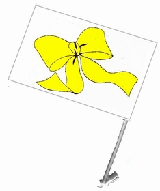 Clip On Window Yellow Ribbon Flag